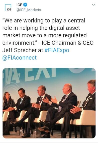 ICE BTC Futures tweet
