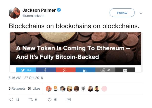 Jackson Palmer Tweet