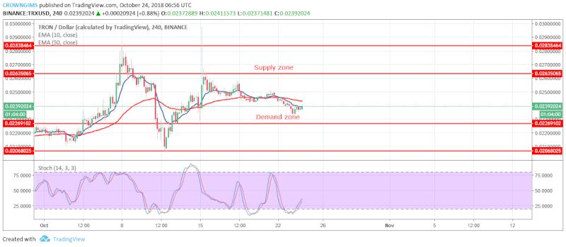 TRX Price Analysis | October 24, 2018