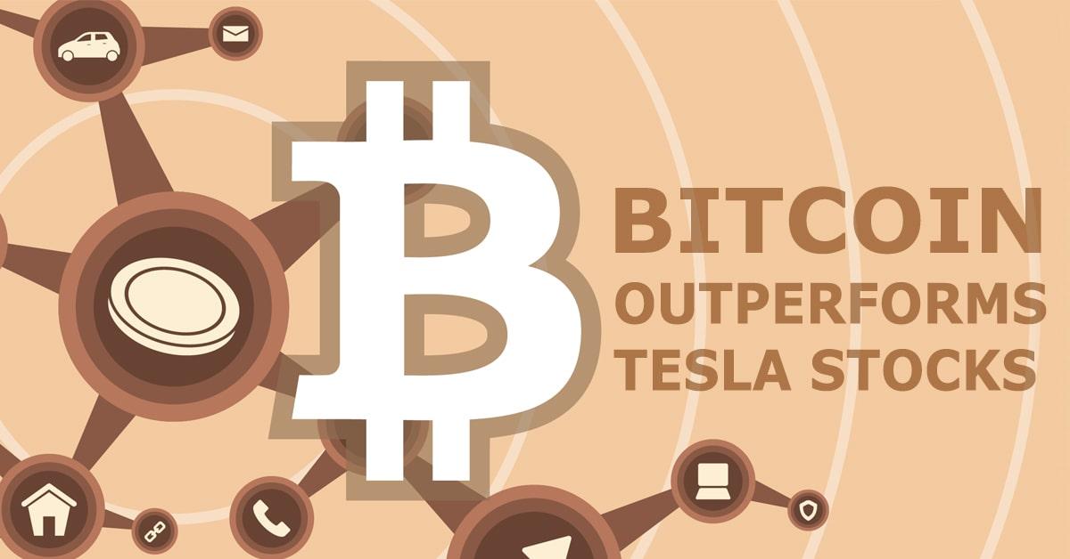 Bitcoin outperforms tesla stocks