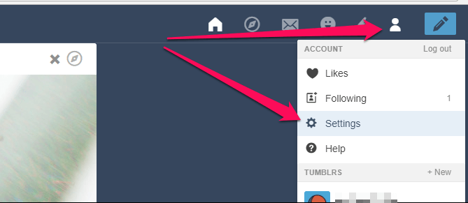 Turn off safe mode in Tumblr