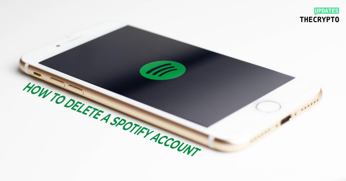 delete a spotify account